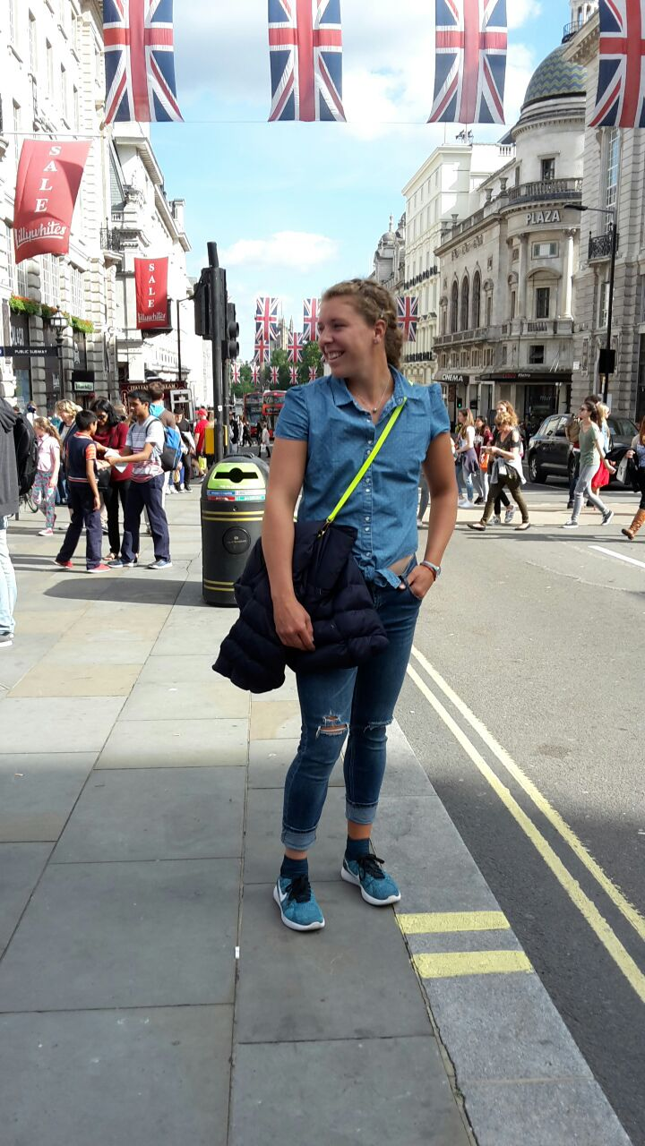 Anna Lena Friedsam in London beim Sightseeing